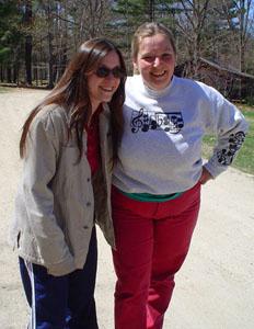 Photo of Alisa and Stephanie outside