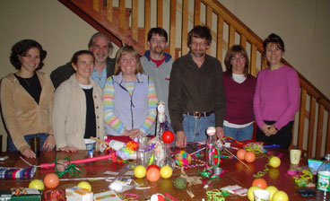 Group photo of Mariana Vilhena, Carolyn Cohen, Dan McGraw, Mark Reinhold, Steve Russell, Kelly Lalonde and Claire McGrail