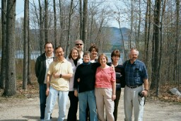 Group photo of the Teaching in Community 2001-2002 participants at the year-end retreat.