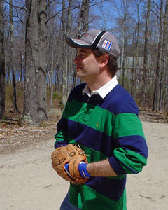 Steve Cori playing baseball